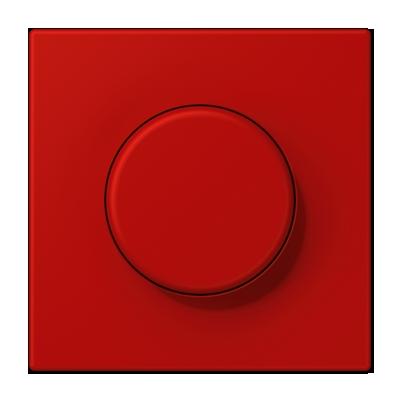 Светорегулятор поворотно-нажимной Jung Le Corbusier для ламп накаливания 230в и электронных трансформаторов 12в, без нейтрали, rouge vermillon 31, Le Corbusier